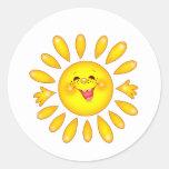 happy sun sticker