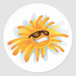 Happy Sun Wearing Shades Sticker