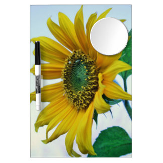 Happy Sunflower Dry Erase Board With Mirror