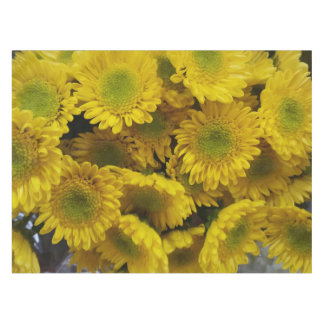 Happy Sunny Yellow Flowers Print Tablecloth