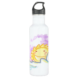 Happy sunrise smiles with clouds bottle 710 ml water bottle