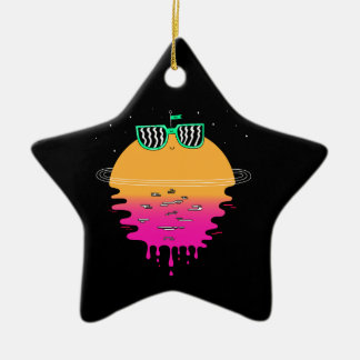 Happy Sunset Christmas Ornament
