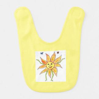 Happy Sunshine Baby Bib (one side)