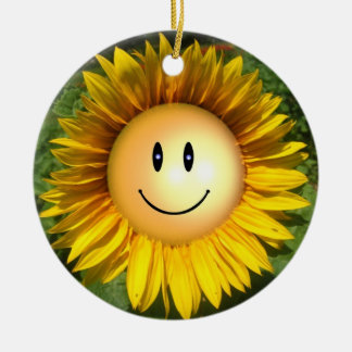 Happy Sunshine Flower Christmas Ornament