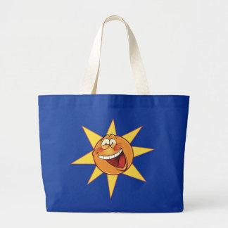 Happy Sunshine Large Tote Bag