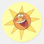 Happy Sunshine Round Sticker