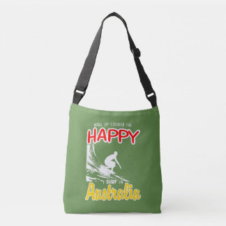 Happy Surfer AUSTRALIA (Wht) Crossbody Bag