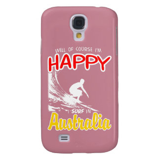 Happy Surfer AUSTRALIA (Wht) Galaxy S4 Case