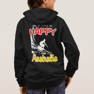 Happy Surfer AUSTRALIA (Wht) Hoodie