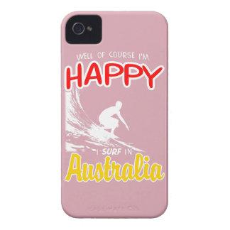 Happy Surfer AUSTRALIA (Wht) iPhone 4 Covers