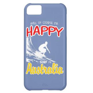 Happy Surfer AUSTRALIA (Wht) iPhone 5C Case