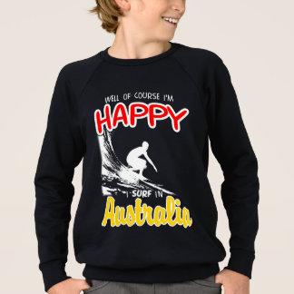 Happy Surfer AUSTRALIA (Wht) Sweatshirt