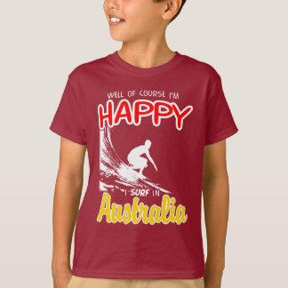 Happy Surfer AUSTRALIA (Wht) T-Shirt