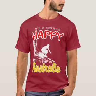 Happy Surfer AUSTRALIA (Wht) T-Shirt