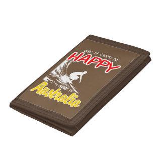 Happy Surfer AUSTRALIA (Wht) Tri-fold Wallet