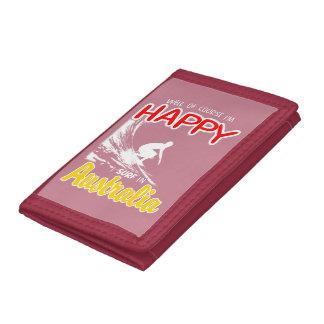 Happy Surfer AUSTRALIA (Wht) Trifold Wallets