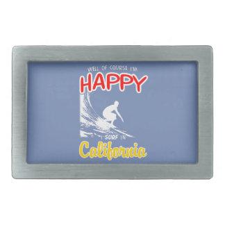 Happy Surfer CALIFORNIA (Wht) Belt Buckles