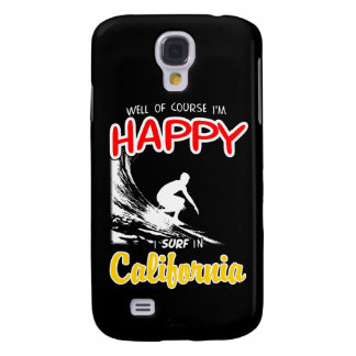 Happy Surfer CALIFORNIA (Wht) Galaxy S4 Case