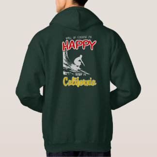 Happy Surfer CALIFORNIA (Wht) Hoodie