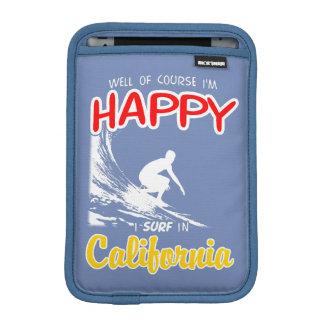 Happy Surfer CALIFORNIA (Wht) iPad Mini Sleeve