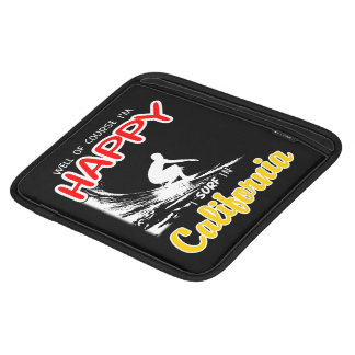 Happy Surfer CALIFORNIA (Wht) iPad Sleeve