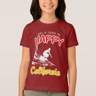 Happy Surfer CALIFORNIA (Wht) T-Shirt