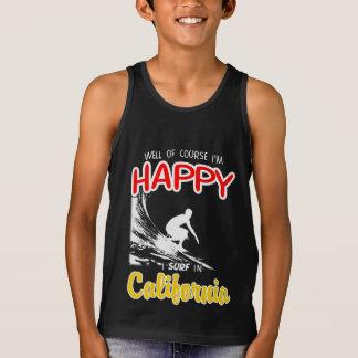 Happy Surfer CALIFORNIA (Wht) Tank Top