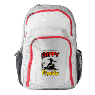 Happy Surfer FLORIDA (blk) Backpack