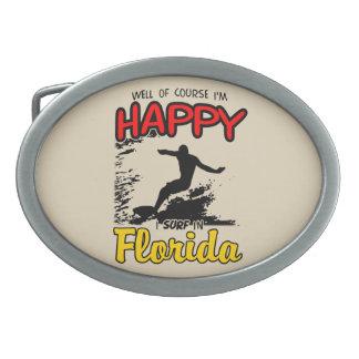 Happy Surfer FLORIDA (blk) Belt Buckle