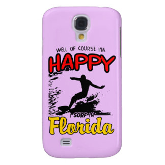 Happy Surfer FLORIDA (blk) Galaxy S4 Case