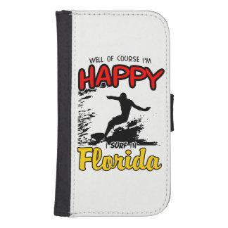 Happy Surfer FLORIDA (blk) Samsung S4 Wallet Case