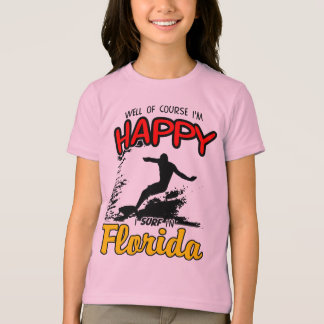 Happy Surfer FLORIDA (blk) T-Shirt