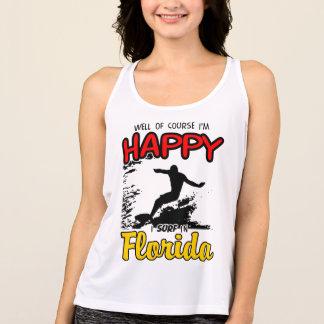 Happy Surfer FLORIDA (blk) Tank Top
