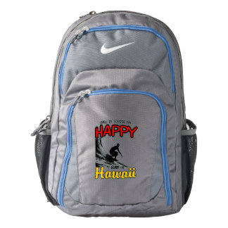 Happy Surfer HAWAII (blk) Backpack
