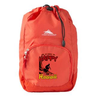 Happy Surfer HAWAII (blk) Backpack