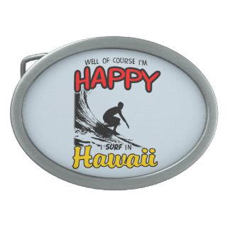 Happy Surfer HAWAII (blk) Belt Buckle