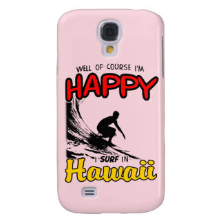 Happy Surfer HAWAII (blk) Galaxy S4 Case