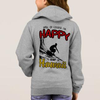 Happy Surfer HAWAII (blk) Hoodie