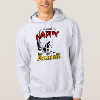 Happy Surfer HAWAII (blk) Hoodie
