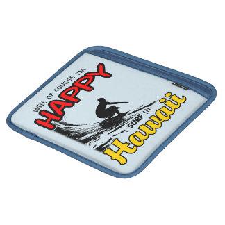 Happy Surfer HAWAII (blk) iPad Sleeve
