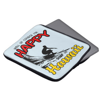 Happy Surfer HAWAII (blk) Laptop Sleeve