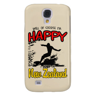Happy Surfer NEW ZEALAND (Blk) Galaxy S4 Case