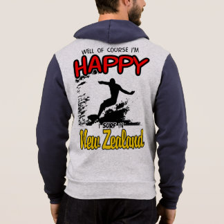 Happy Surfer NEW ZEALAND (Blk) Hoodie