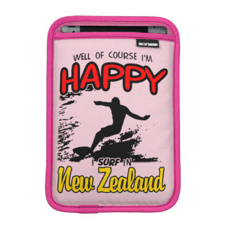 Happy Surfer NEW ZEALAND (Blk) iPad Mini Sleeve