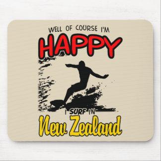 Happy Surfer NEW ZEALAND (Blk) Mouse Mat