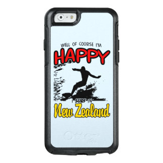 Happy Surfer NEW ZEALAND (Blk) OtterBox iPhone 6/6s Case