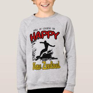 Happy Surfer NEW ZEALAND (Blk) Sweatshirt
