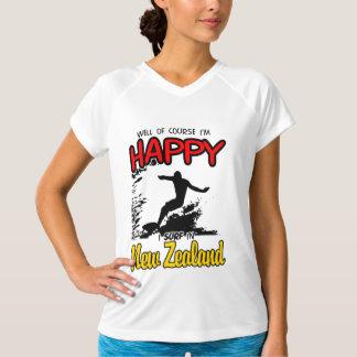 Happy Surfer NEW ZEALAND (Blk) T-Shirt
