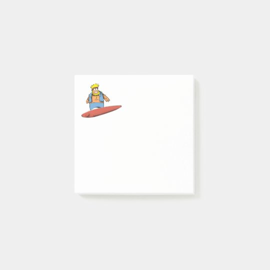 Happy Surfer Post-it Notes