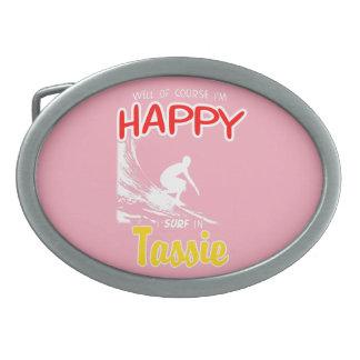 Happy Surfer TASSIE (Wht) Belt Buckles